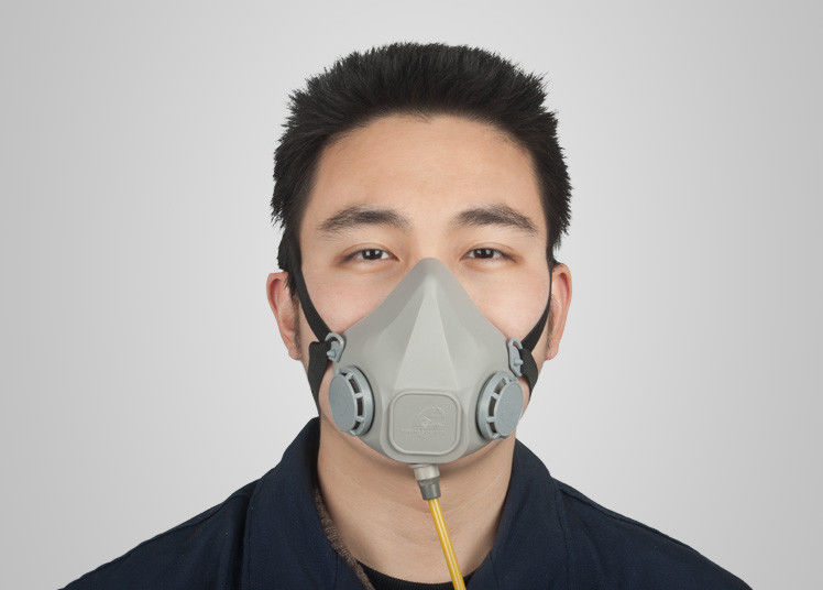 Dual Gas Supply Type Spray Paint Gas Mask , Half Face Respirator Mask European Standard